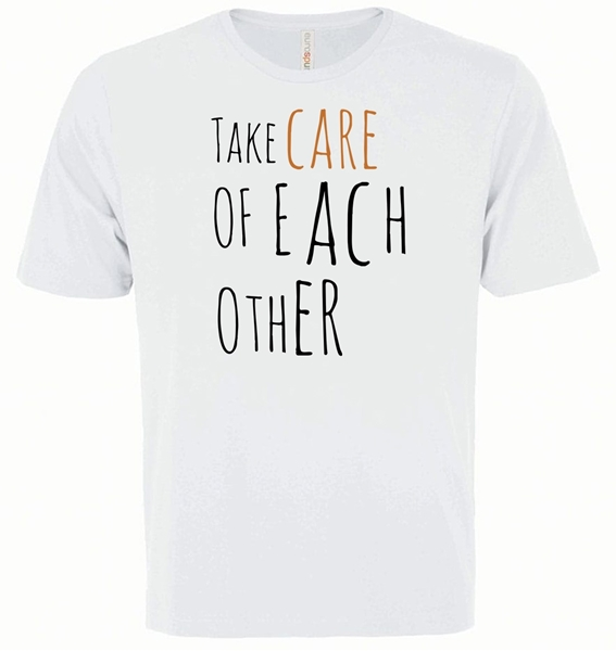 Picture of Take Care of Each Other Youth White Tee